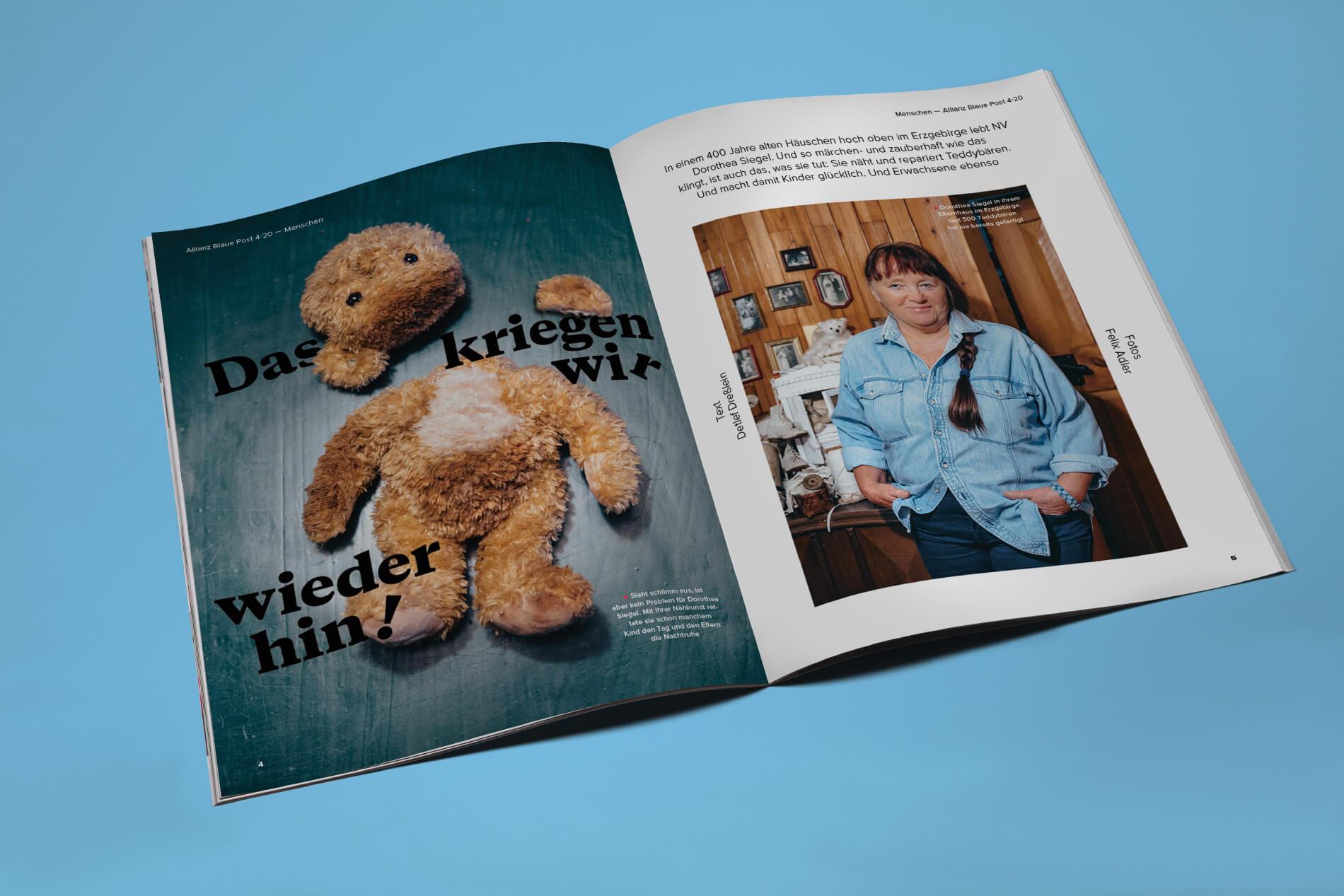 Allianz-BlauePost-Teddy-Reportage